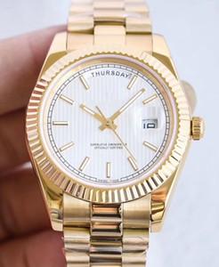 New Herrenuhr 41mm Automatik-Uhrwerk Edelstahl Uhren Männer mechanische Männer Tag Datum Uhren Armbanduhr btime