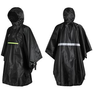 Мужчины Женщины Дождевик Водонепроницаемая плащи пальто с отражателем непромокаемые Пончо Светоотражающие полосы для кемпинга Туризм Альпинизм
