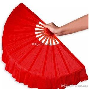 A60 41cm Noir Plein Rouge Pliant fans Craft Danse Performce de soirée de mariage Souvenir Décoration Fournitures aa893-900 2017122302