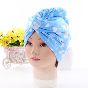 Gorros de ducha para la magia de secado rápido de la microfibra de pelo secado con la toalla turbante Wrap Sombrero Caps Caps Spa Baño de EEA1337-8