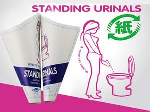 2.019 Donne di carta e donne in piedi emergenza igienici Traffico auto igienici Bag donne incinte Urina Pot esterno 20 / box all'ingrosso