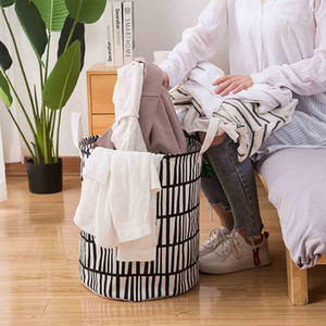 Laundry Basket Dirty Clothes Basket Wasmand Laundry Hamper Clothes Basket Cotton Waterproof Washing Bag Foldable Storage #45