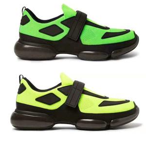 Cloudbust Sneaker Мужчины Низкая Верхняя Повседневная Обувь Дизайнер Женщины Кроссовки Роскошные Ткани Дышащий Флуо Зеленый Cloudbust Обувь Мужчины Плоские Кроссовки