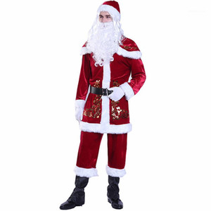 Natale a tema costume cosplay Coppia corrispondenza abiti firmati Buon Natale cosplay vestiti delle donne degli uomini di moda di Santa