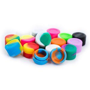 Toptan yapışmaz 3 ML FDA silikon konteyner Zengin Renk yuvarlak kutu Balmumu katlı için Silikon kutusu kavanoz dab Nakliye ücretsiz