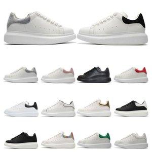 Con la scatola nera di velluto delle donne degli uomini Chaussures Shoe Bella piattaforma casuale di cuoio delle scarpe da tennis di colori solidi abito calza il formato 36-46