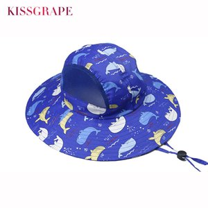 9CM Large Brim Kids Baby Boys Bucket Hats Sun Protection Cap Anti-UV Soft Comfortable Spring Summer Breathable Mesh Swimming Cap