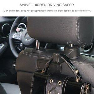Многофункциональный крючок Подголовник сумка вешалка держатель силиконовый черный Организатор ABS Beige Hot Sale