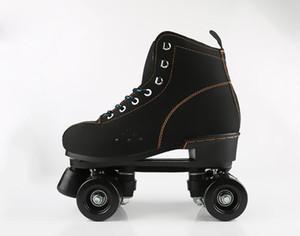 Los zapatos deportivos para adultos de 2 filas patines Hombres Mujeres flash patinaje patín de ruedas botas la zapatilla de deporte