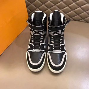 Newst Hot Plaid printing sports boots Classic Casual men Lace-up flats Stylish high-top sneakers rubber outsole With nmk01
