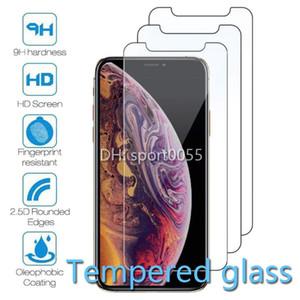 1000pcs Cellulare vetro temperato per Iphone 6 7 8 6S X XS XR 11 Protector DHL Shipping Pro schermo Max Plus