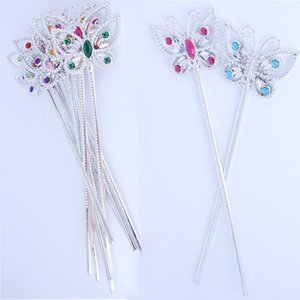 Children Girls Butterfly Magic Sticks Kids Princess Fairy Wand Birthday Party Costume Stage Props Fancy Dress Supplies