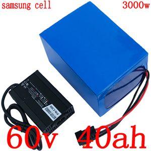 60V 1500W 2000W 3000W 리튬 배터리 ebike 60V 40AH 60 발판 리튬 배터리 V 40AH 전기 자전거 배터리 사용 삼성 휴대폰