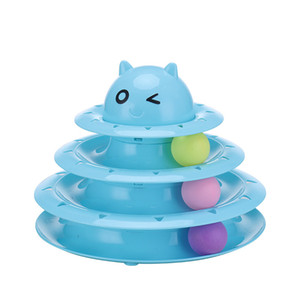 Juguetes para gatos para gatos y gatitos | Juguetes de 3 niveles con forma de bola giratoria, ideales para gatos múltiples o un solo gatito