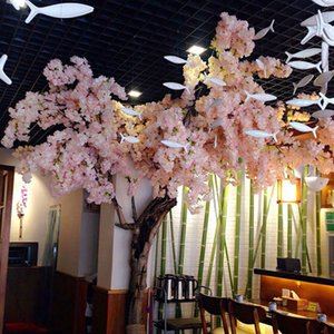 Falsificazione fiore di simulazione artificiale Cherry Blossoms Sakura Bella Romantica 98,5 centimetri Conservare Decor partito Ornamento festivo