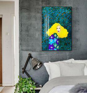 Nordischen Modernen Stil Handdraw Zeichen Bunte Leinwand Malerei Poster Print Decor Wandkunst Bilder Für Wohnzimmer Schlafzimmer