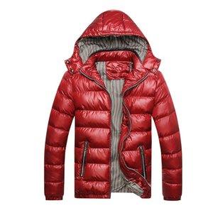 Men Cotton Padded Parka-Mantel Windjacke mit Kapuze Mantel Parka Daunenjacke Outwear beiläufige warme starke Männerkleidung