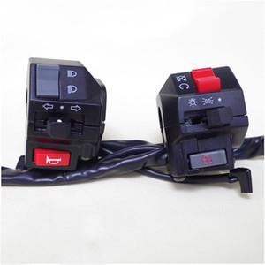 """2x Moto 7/8"""" L e R manubrio corno segnale di giro faro elettrica avviamento Interruttore di interruttori di comando Moto Accessori"""