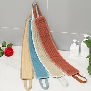 Kreative Doppelseitige Streifen weiche Luffa Zurück Scrubber Männer Frauen Badetuch Exfoliating Loofah Massage für Dusche Körperreinigung
