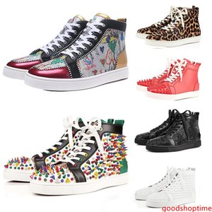 Top Quality ACE Designer Brand Studded Spikes Flats Shoes Men Women Fashion High Cut Multicolor Party Lovers Casual Shoes