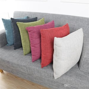 Hot sale Solid color flax Pillow case Household supplies Creative pillowcase Soft and comfortable Cushion cover IA1001