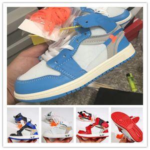 Kids Space Jam Bred Concord Gym Rouge Chaussures de basket-ball de minuit marine pour les enfants de filles de garçon Chaussures de sport tout-petits cadeau d'anniversaire