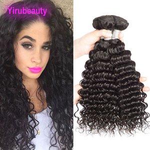 Capelli umani brasiliani Deep Wave 3 Bundles 100% estensioni dei capelli vergini profonde Deep Curly Natural Color 8-28 pollici Three Pieces