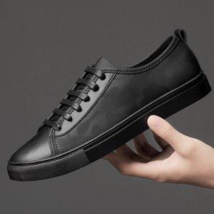 Scarpe Uomo LeatherMesh Casual Shoes White Male Primavera Autunno Moda Walking Calzature Sneakers uomo di scarpe chaussure homme morbida nuova