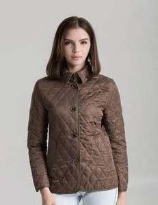 Vente chaude! Femmes Fashion Angleterre Style court coton mince veste rembourrée de coton / de marque veste courte mince pour femme taille S-XXL # 19011