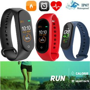 Pressão inteligente Banda Assista Pulseira Pulseira de Fitness Rastreador Sangue Heart Rate M4 Digital pulso IP67 Waterproof