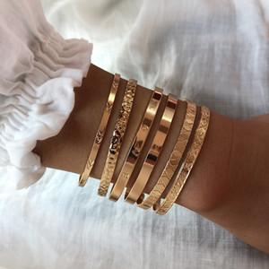 Широкий комплект Snap оптом металлические многокомбизневые браслеты ювелирные изделия преувеличение открытие Золотые ванзы Charm Creative VQUMT