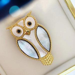 2020 serie dal design di lusso di lusso spilla gufo animali accessori moda spilla per le donne confezione regalo aggiuntivo