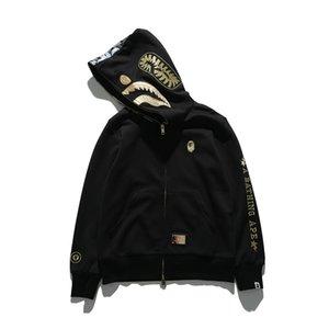 FashionBape Felpa con cappuccio casual da uomo con maglione sottile ricamato stampato in autunno e inverno ABATHING APE taglia M-2XL