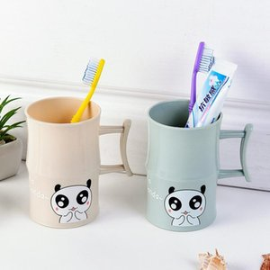 Lovely Cartoon Moso Bamboo Panda Gargle Cup Concise Lovers Plastic Toilets Glass Toothpaste Bring Handle The Tooth Mug Cup