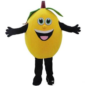 2019Discount vendita di fabbrica giallo limone mascotte costumi frutta mascotte costumi Costumi di Halloween Chirstmas Party Adult Size Fancy Dress