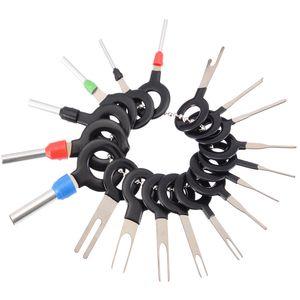 18pcs 11pcs Automotive plug Terminal Remove Tool Set Chave fio elétrico Pin Car Crimp Connector Extractor Kit Acessórios Car