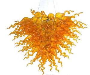Современная Венецианская ручная выдувная стеклянная люстра многоуровневая Янтарная или красная люстра LED CE UL Living Room Art Decor Glass Chandelier Lighting