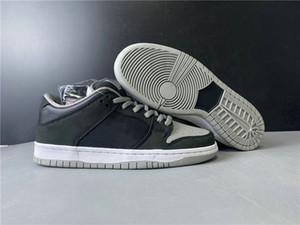 Good Quality SB Dunk Low J Pack Shadow Athletic Designer Shoes Black Medium Grey White Fashion Skateboard Sneakers Ship With Box