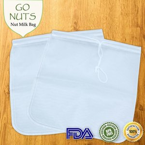 Food Filter Mesh Bag Nut Milk Sprouting Juice Raw Food Soup Reusable Amazing Filter Food Grade 11.8 x 11.8 inch