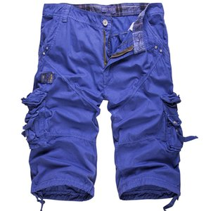 Mens Designer Cargo Shorts Solid Color Plus Size Males Pants With Zipper Loose Mens Casual Pants