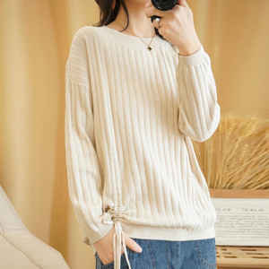 LITVIRYH 100% Cotton Knitted Sweater Women Sweaters And Pullovers O-Neck Long Sleeve Healthy Female Pullover Women Jumper Tops