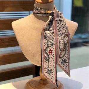 Новый стиль Женские шелковые шарфы Изысканный шаблон Snake Печатные шарфы для женщин Природа Стиль Мода Soft Neckdress