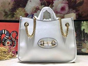 Подлинной Плечи Нового лето женщин Totes Horsebit сумка прибытие модельер женщина цепь Марка сумка большой емкость Кожа Mpsow