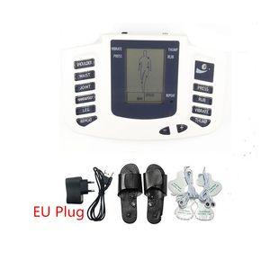 Full Body choc électrique de massage du cou bras jambe arrière Relaxation musculaire dispositif de thérapie portable stimulation Estim TENS EMS Acupuncture machine