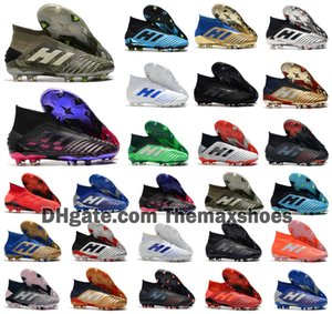 2020 Hot Predator 19+ 19,1 FG PP Paul Pogba Saison 6 Code Encryption Hommes Garçons Chaussures Football Football + 19 x Crampons Bottes pas cher Taille 39-45