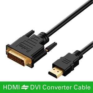 HDMI إلى DVI الكابل ذكر 24 + 1 DVI-D محول ذكر مرئيات مطلية بالذهب 1080P لHDTV DVD العارض 3M 5M السامي سرعة DVI إلى HDMI