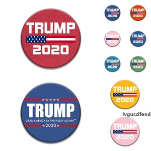 hot 9style Trump Commemorative Badge brooches pins 2020 American Election Supplies Trump Badge US Flag party Supply T2I5962