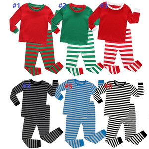 Kids Pajamas Home Clothes Christmas Pajamas Boys Girls Bedgown Leisure Wear Autumn Winter Two-piece Clothing Sets Christmas 12set