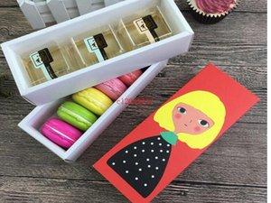 Chriatmas Hollow Macaron contenitore di bigné contenitore di San Valentino al cioccolato Imballaggio cottura pacchetto Macaron imballaggio di carta torta Scatole