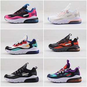 Nike air max 270 2019 Kanye West infantil argila da criança Crianças Correndo sapatos estática GID chaussure de sport derramar meninos enfant meninas Formadores Casual